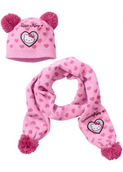 Kids Hello Kitty Scarf Hat Set Girl Remaining Stock Kids Fashion