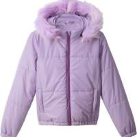 Kids Girls Jacket Quilted Hooded Children's Clothing Winter